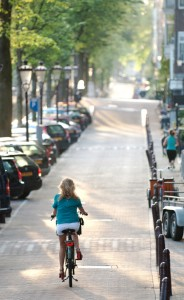 Biking in Amsterdam iStock_000026660405Small