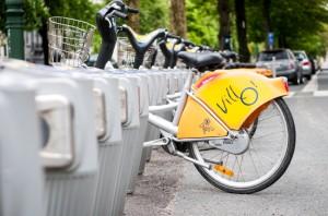 Biking in Brussels Villo iStock_000020160337Small