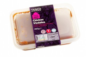 Tesco Chicken Vindaloo Curry Ready Made  Meal In Plastic Contain