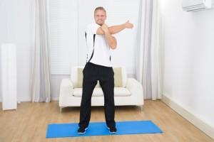 Happy Man Doing Exercise