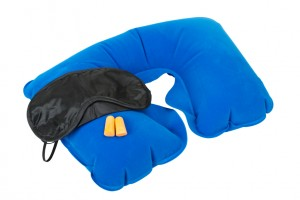 Inflatable Neck Pillow, Sleeping mask and earplugs