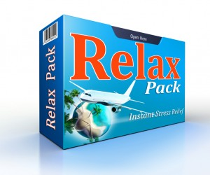 Relax concept pack with flight to paradise