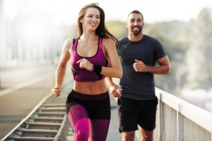 Running Outdoors. Sport, Health and Fitness.