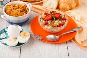 Vegetarian breakfast can provide iron