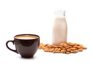 Non-dairy milk in coffee